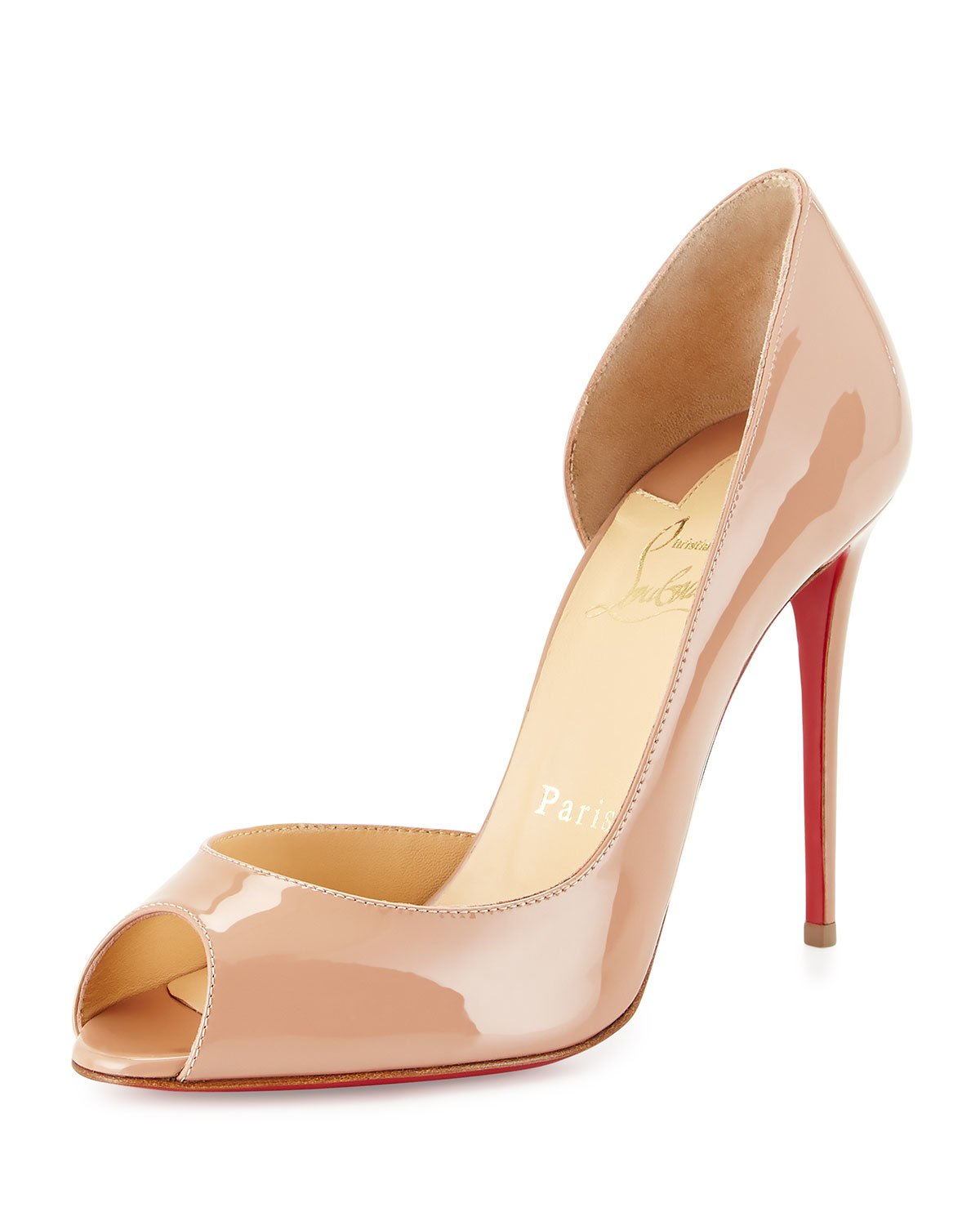 Christian louboutin Demi You Half D\u0026#39;Orsay Peep-Toe Red Sole Pump ...