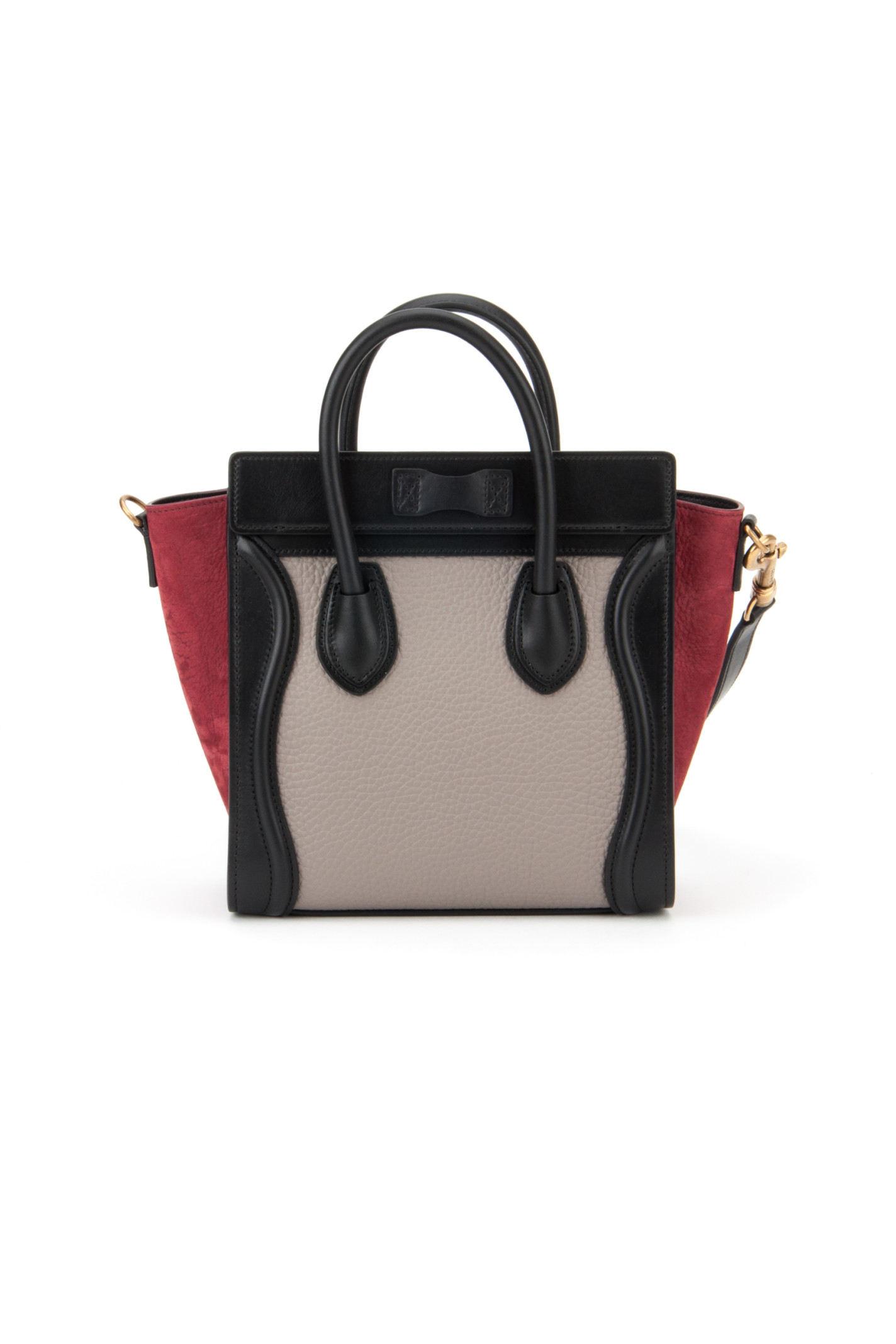 celine red leather handbag