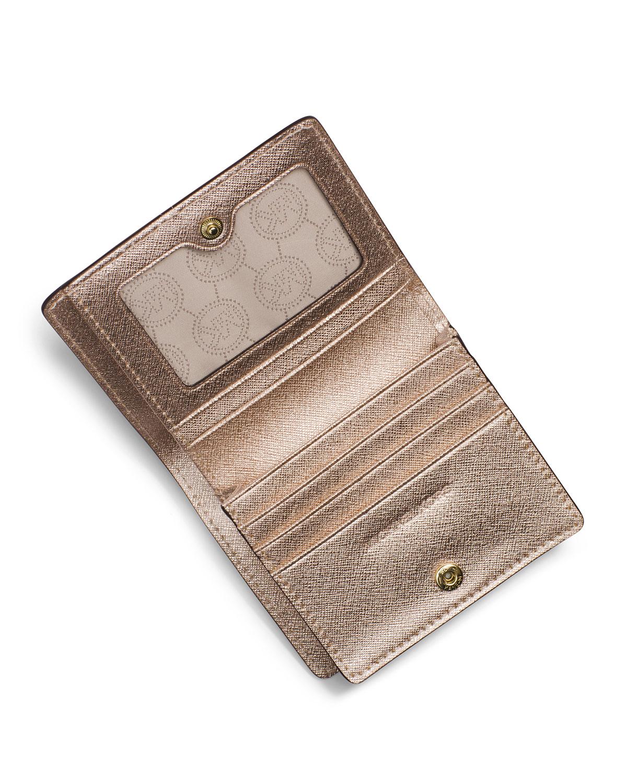 83eb394481c4 ... Leather Carry All Tote Handbag Michael michael kors Jet Set Travel Flap  Card Holder in Pink ...