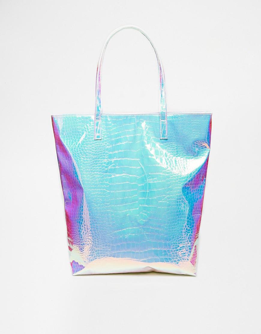 Lyst Asos Snake Hologram Beach Bag