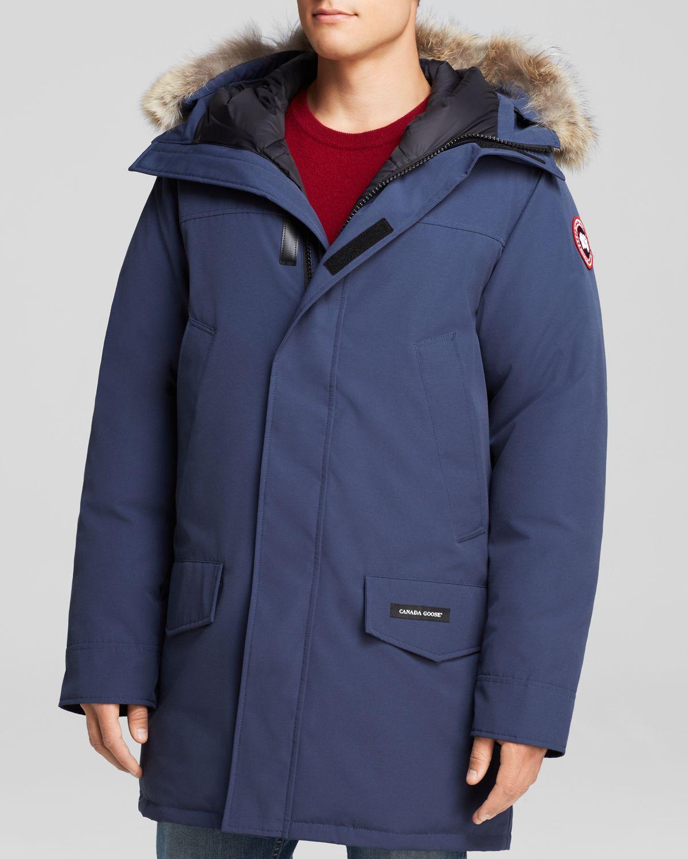 lyst canada goose langford parka with fur hood in blue. Black Bedroom Furniture Sets. Home Design Ideas