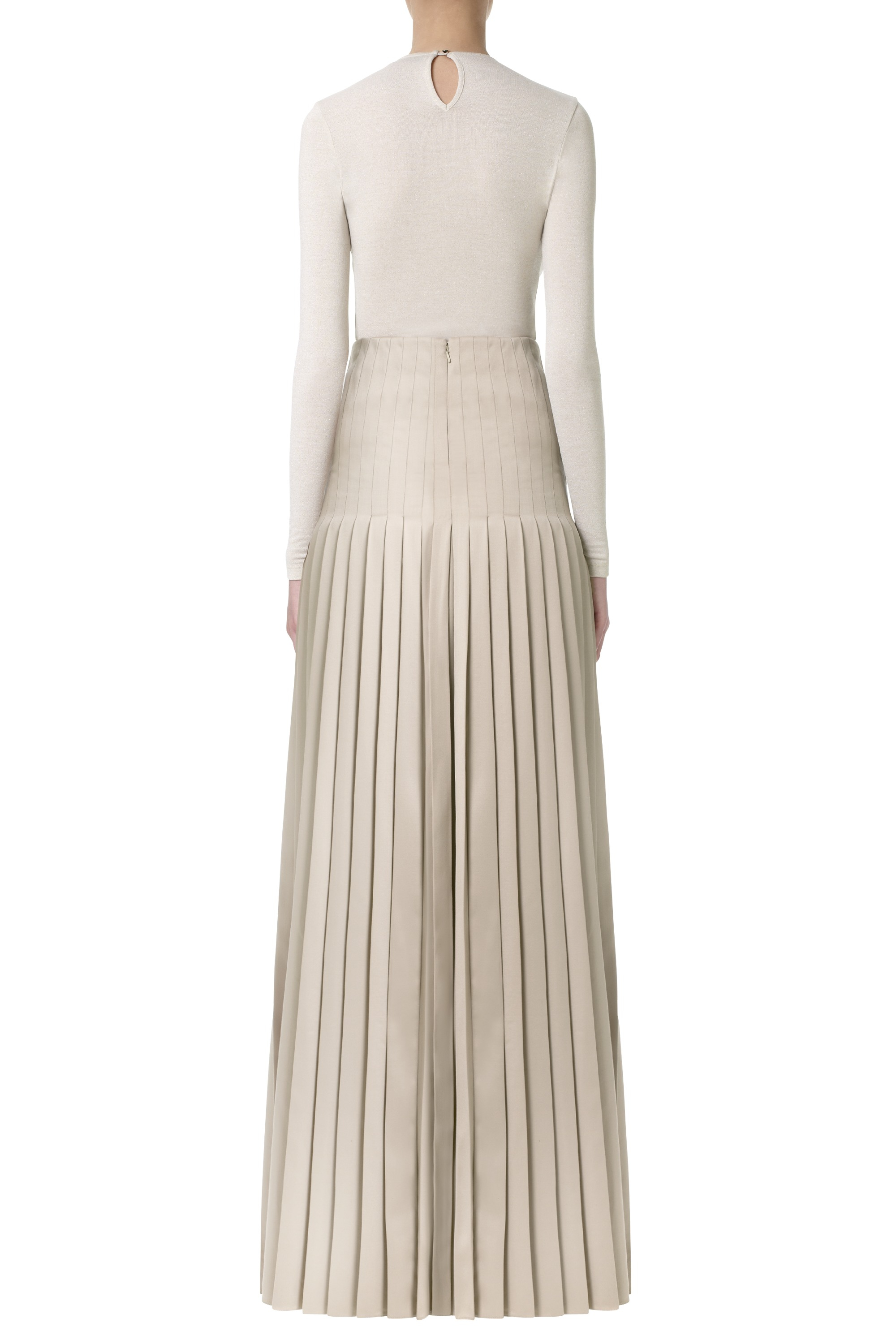 Mary katrantzou Riva Maxi Pleated Skirt Embroidered in Black | Lyst