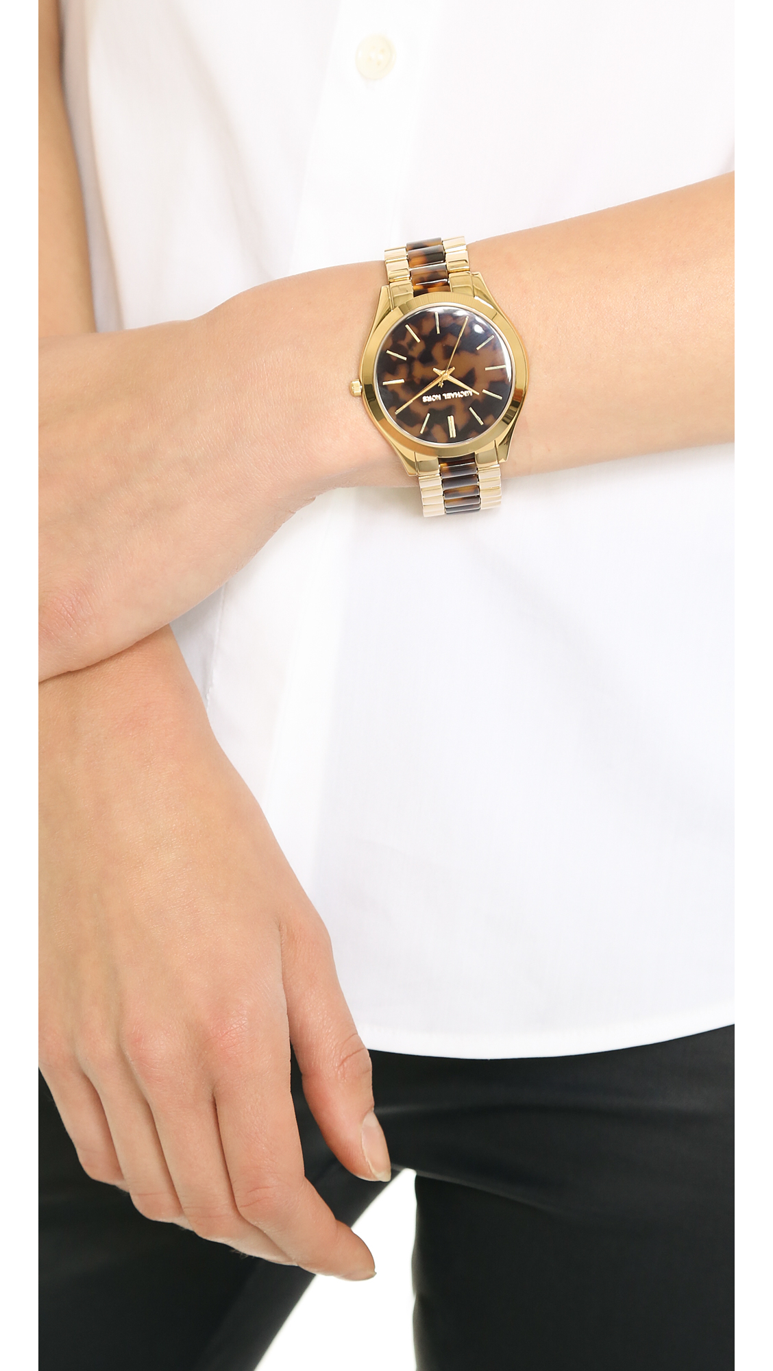 813c0694d68d Slim Runway Rose Gold Tone Acrylic Watch - Image Of Bear and Rose ...