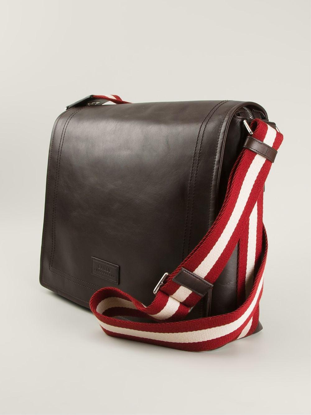 c7d812c6f8f8 Bally Medium Triar Messenger Bag in Brown for Men - Lyst