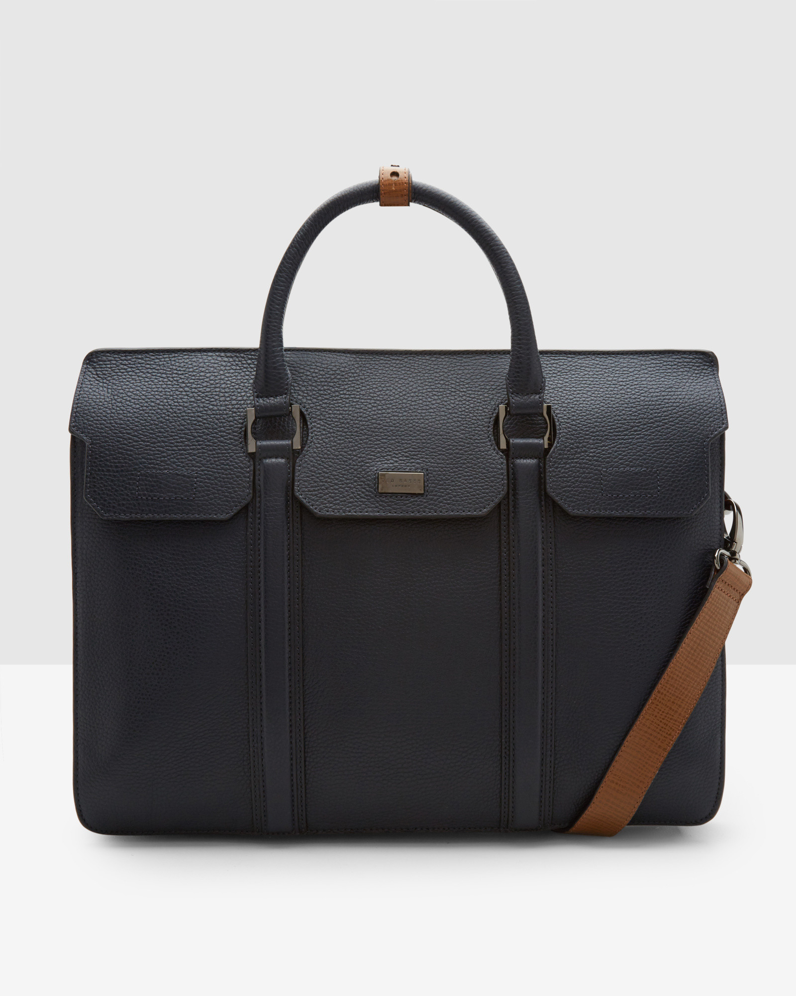 Ted baker luxury leather document bag in blue for men lyst for Ted baker london leather document bag