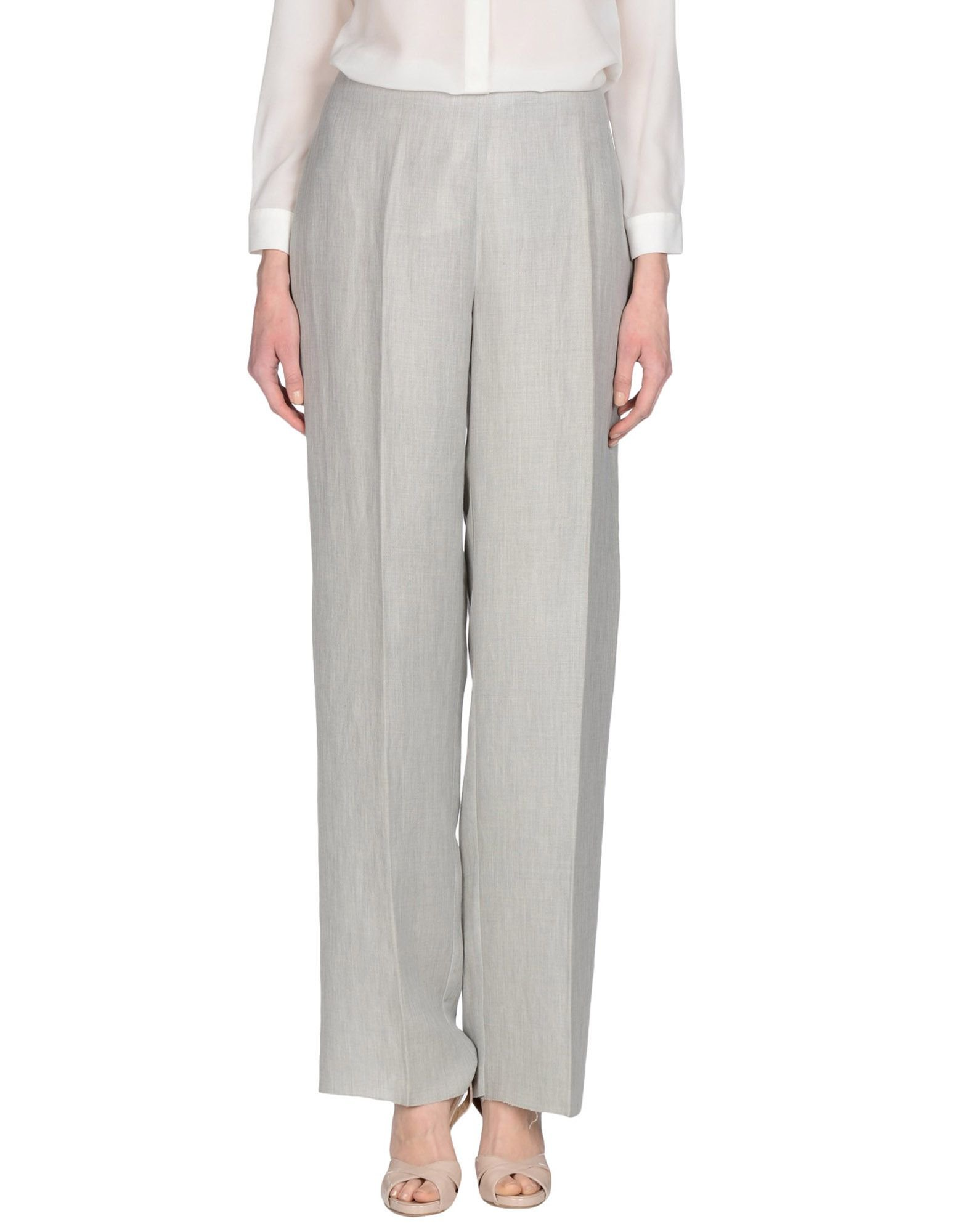 Unique Womens Pants Trousers Light Gray Cotton 40 Grey At Amazon Women