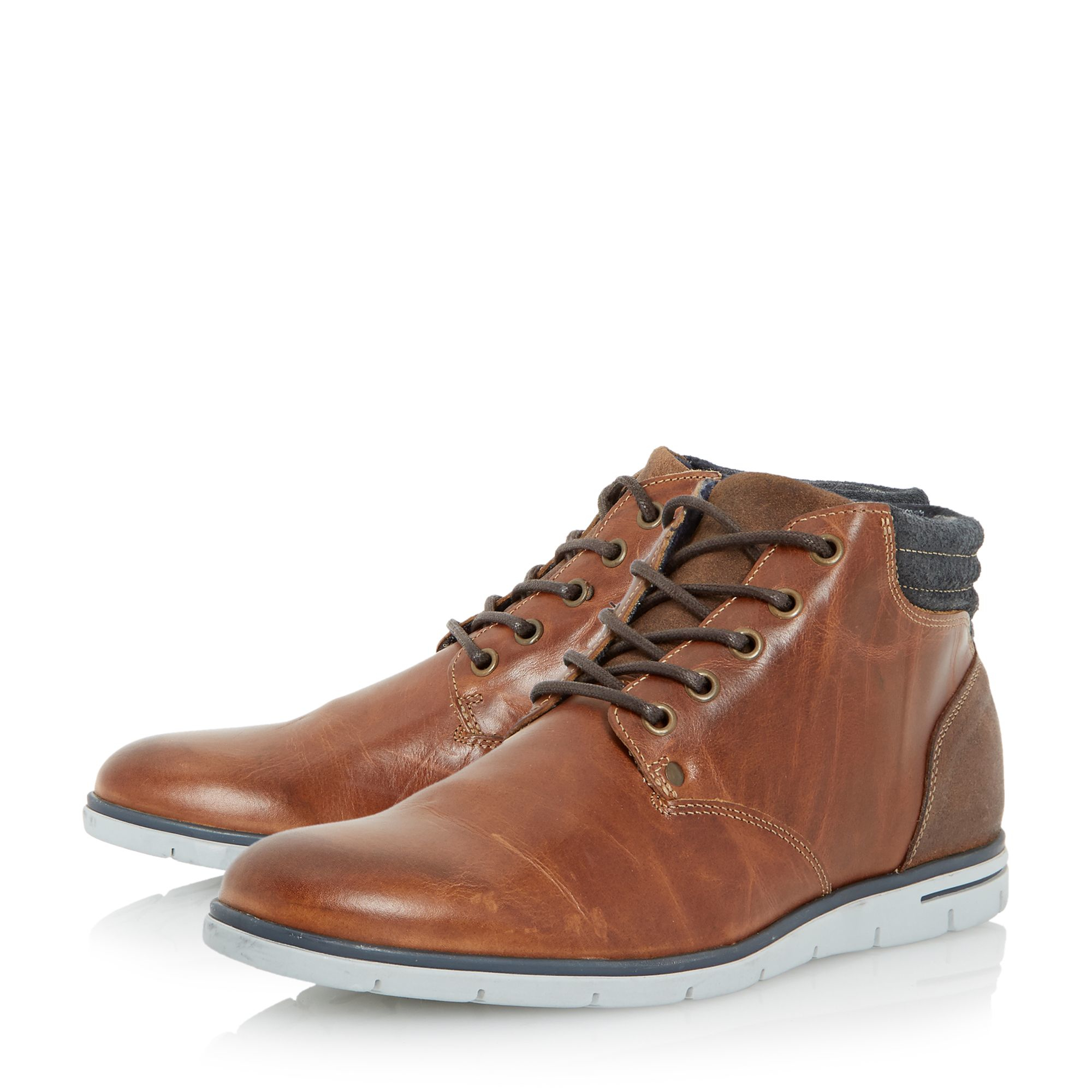 Tan Wedge Lace Up Shoes