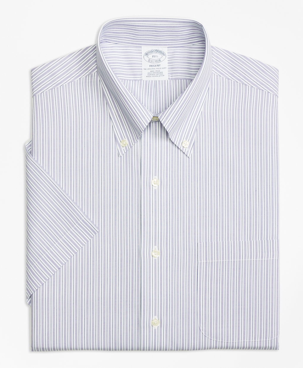 Brooks brothers non iron regent fit split stripe short for Brooks brothers non iron shirts review