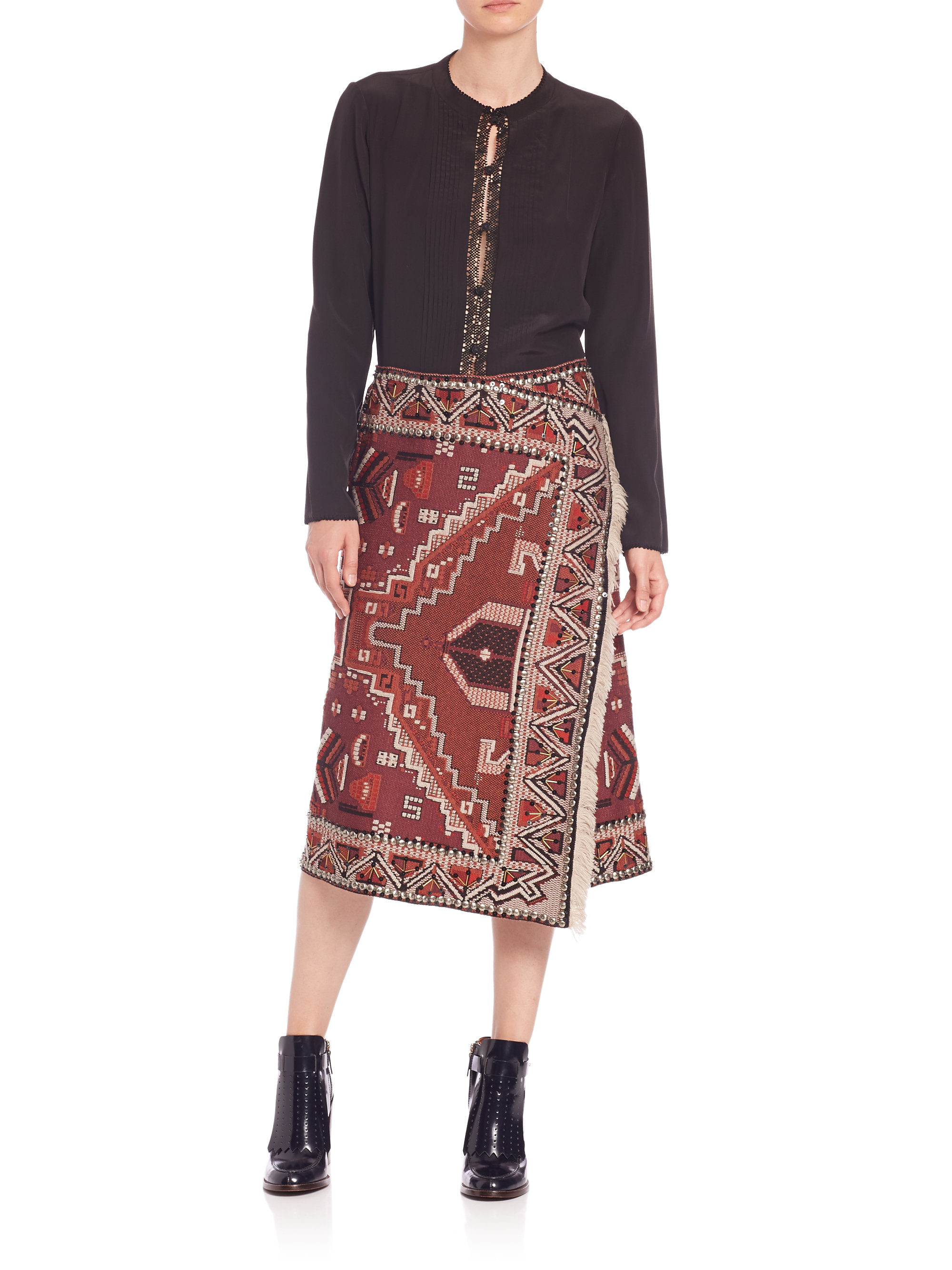 wrapped skirt Tory Burch Cheap Sale In China Online Pay With Visa Online Footlocker Finishline Sale Online Low Price Gpdr5fK