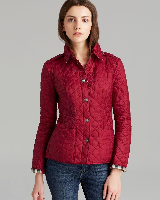9dd0fdbc21c Burberry Red Brit Lyst Jacket in Kencott 4dW6X