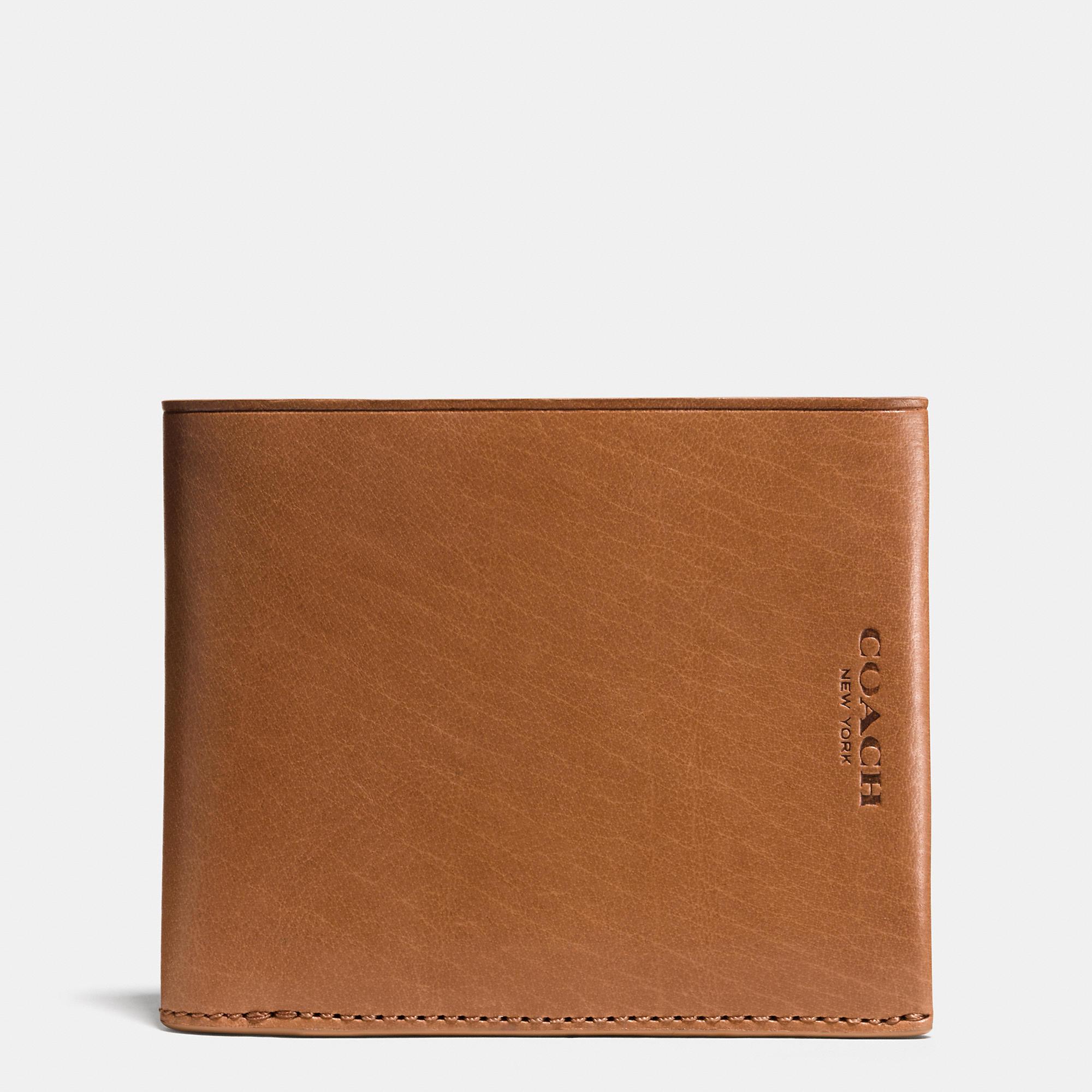 6581b4929ee9 ... get lyst coach modern billfold wallet in water buffalo leather in cfcdd  064c5