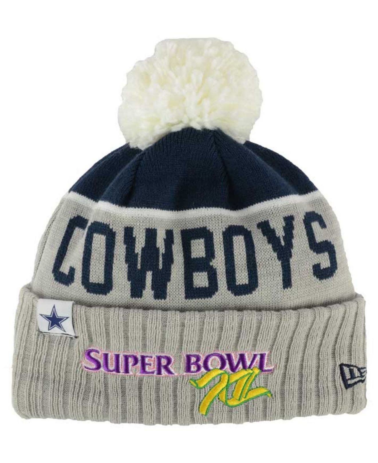 213fa565c8102c Lyst - KTZ Dallas Cowboys Super Bowl Sport Knit Hat in Gray for Men