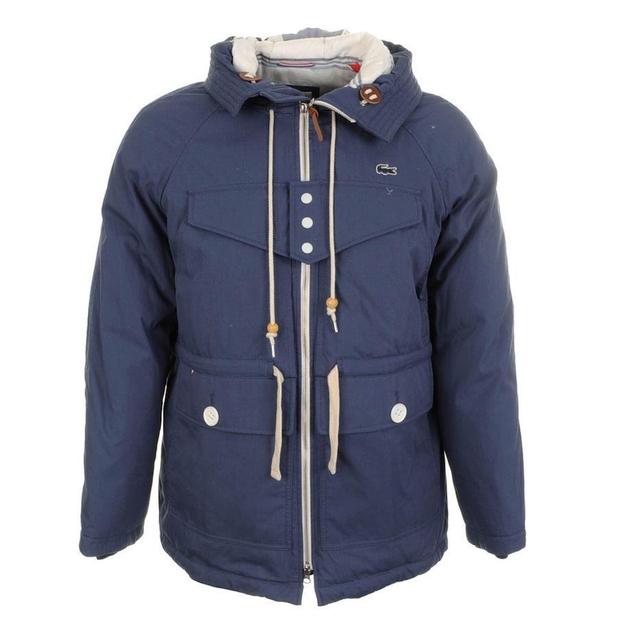 dbbde7f422 Lacoste L!ive Waterproof Hooded Parka Jacket in Blue for Men - Lyst