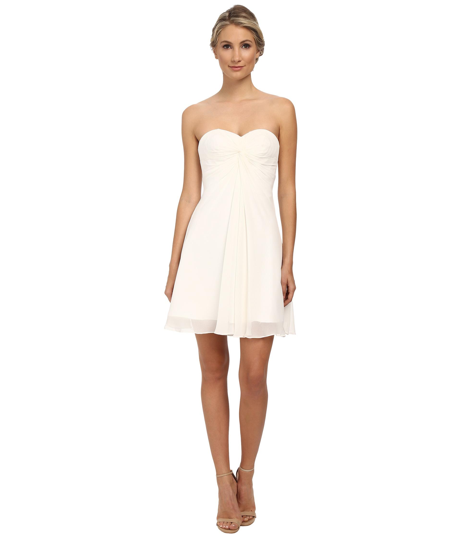 Faviana Short Chiffon Corset Dress 7650 in White (Ivory ...