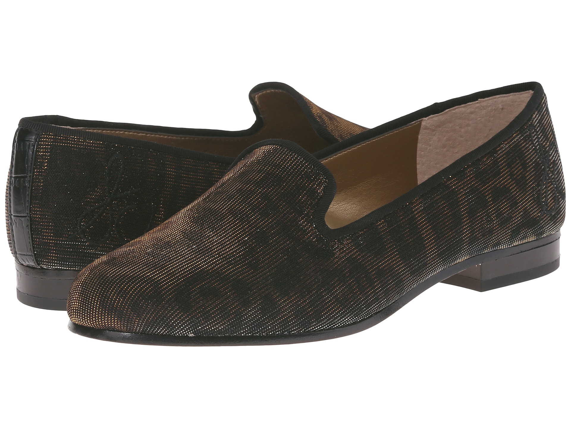 Womens Shoes Sam Edelman Hurlie Bronze Shimmer Leopard Fabric