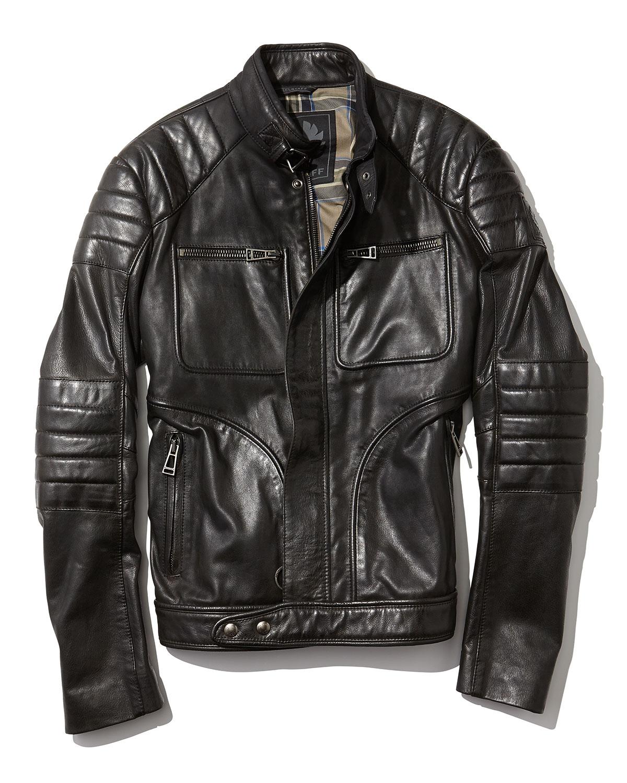 lyst belstaff weybridge handwaxed leather bomber jacket. Black Bedroom Furniture Sets. Home Design Ideas