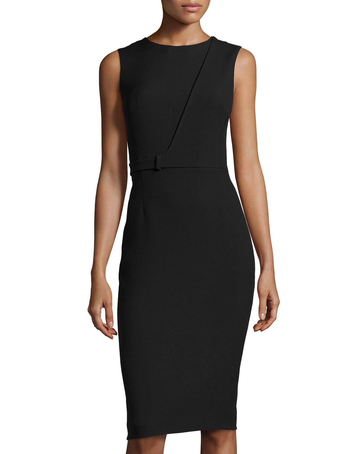 Jason wu Cascade Fitted Sheath Dress in Black | Lyst