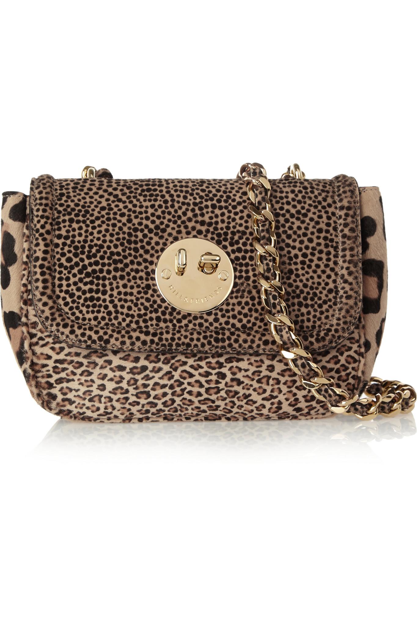 ec8cf44f7813 Hill & Friends Happy Chain Printed Calf Hair Shoulder Bag - Lyst