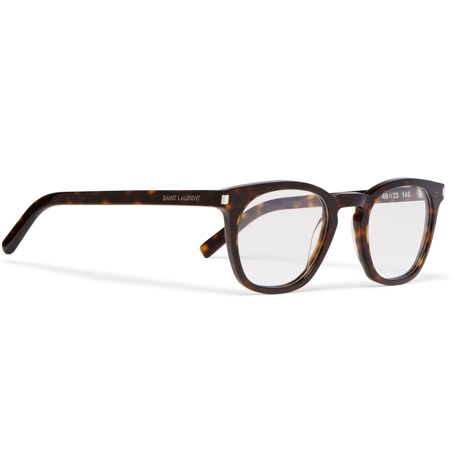 a58205d5370 Saint Laurent Havana Square-frame Tortoiseshell Acetate Optical ...