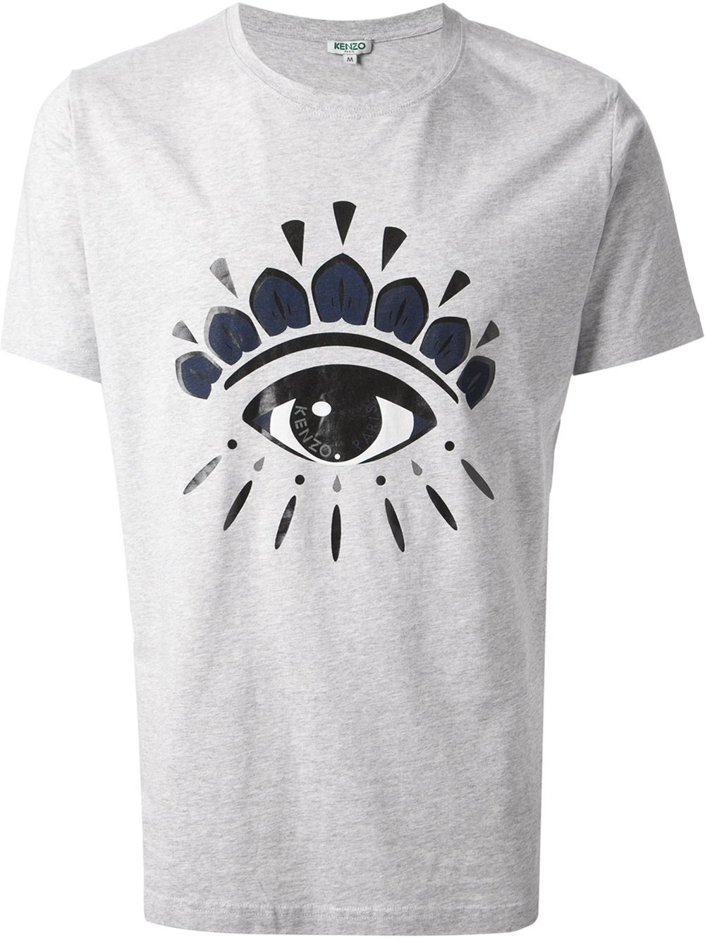 b996ce02aafab KENZO Eye Print T-shirt in Gray for Men - Lyst