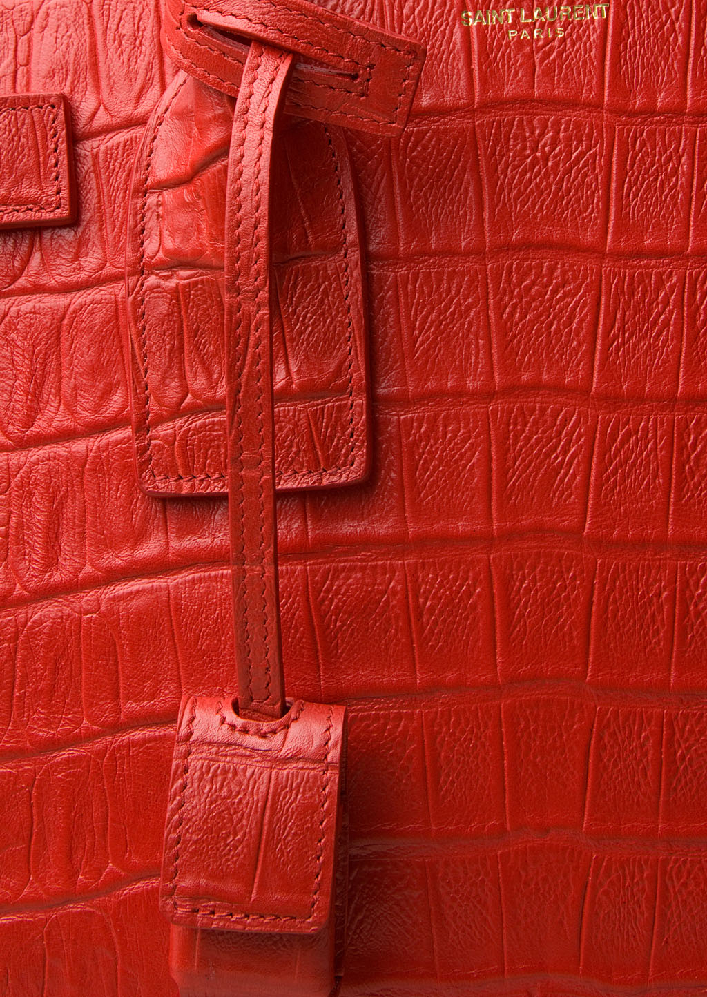 Classic Small Sac De Jour Bag In Royal Blue Crocodile Embossed Leather