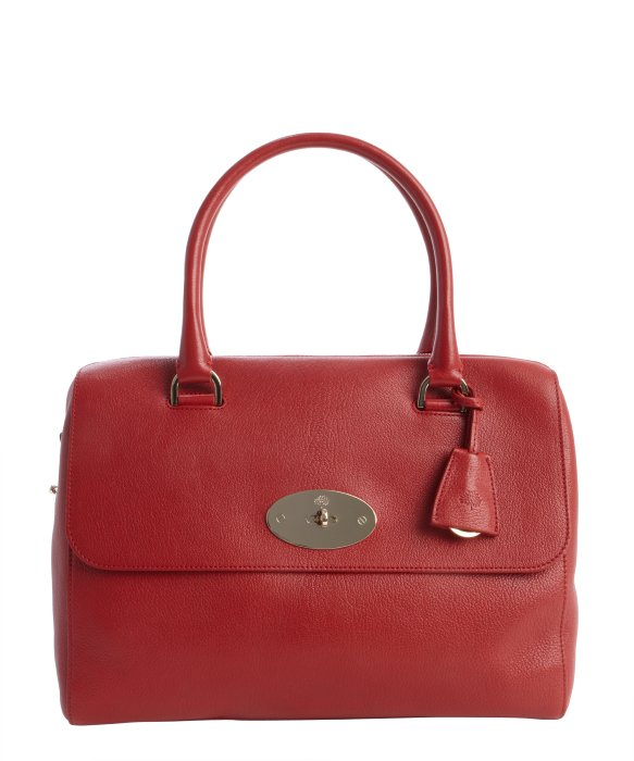... get lyst mulberry poppy red leather del ray top handle satchel in red  9f192 122ce 1bf3bc4421c7d
