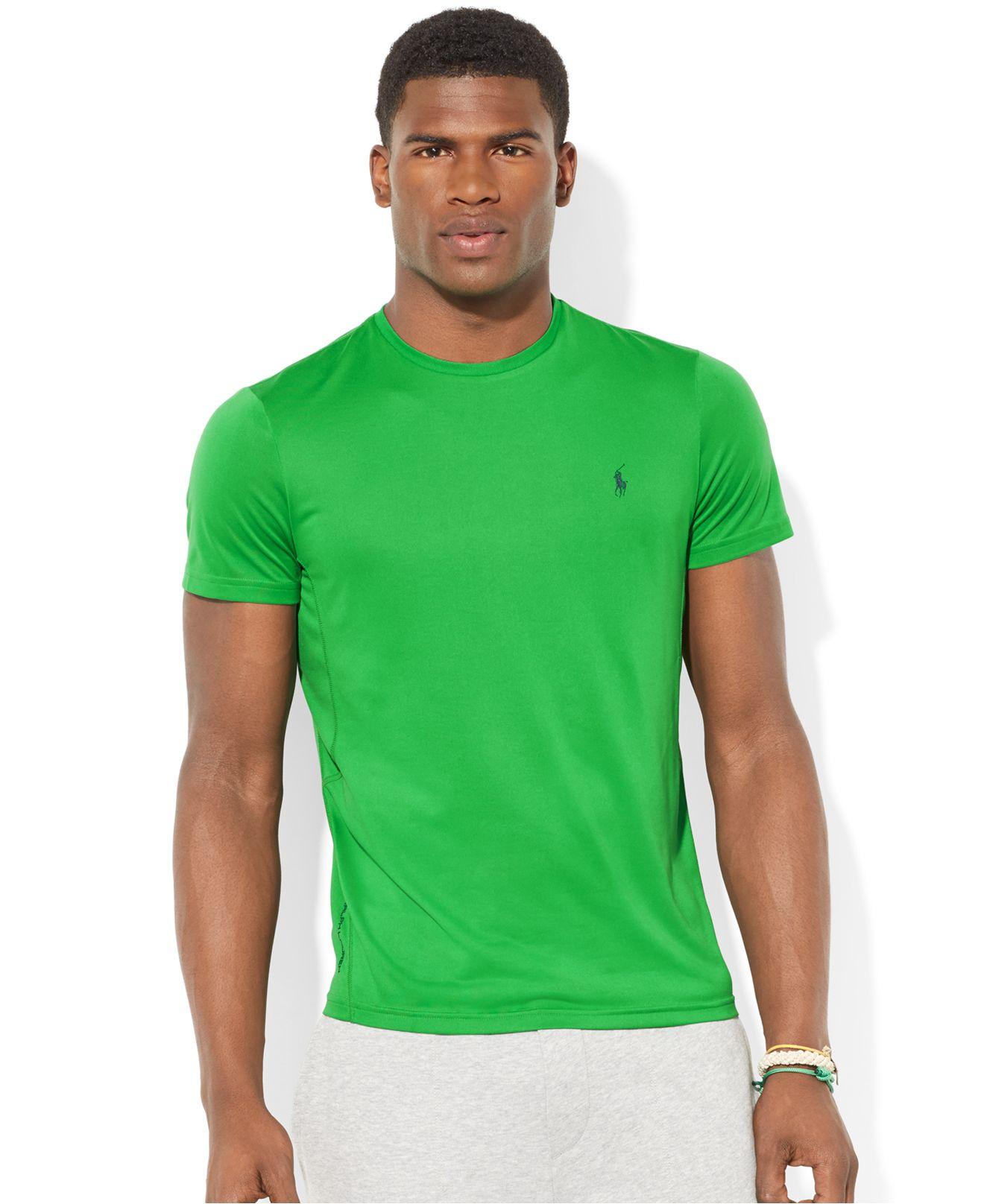 d2f7ffc4b Polo Ralph Lauren Performance Jersey T-Shirt in Green for Men - Lyst