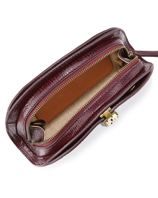 a921fff63b573 Etienne Aigner Crown Leather Mini-Clutch in Brown - Lyst