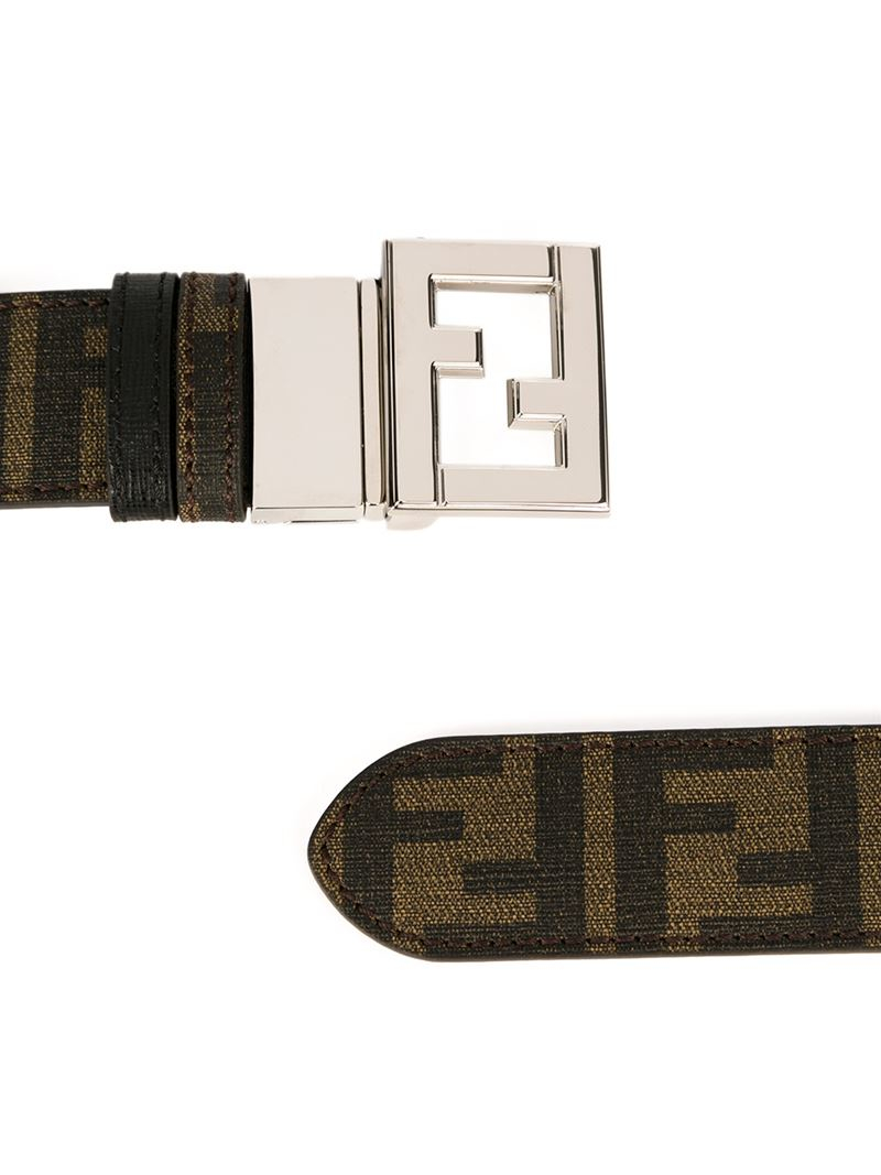 fendi ff logo belt in brown for lyst