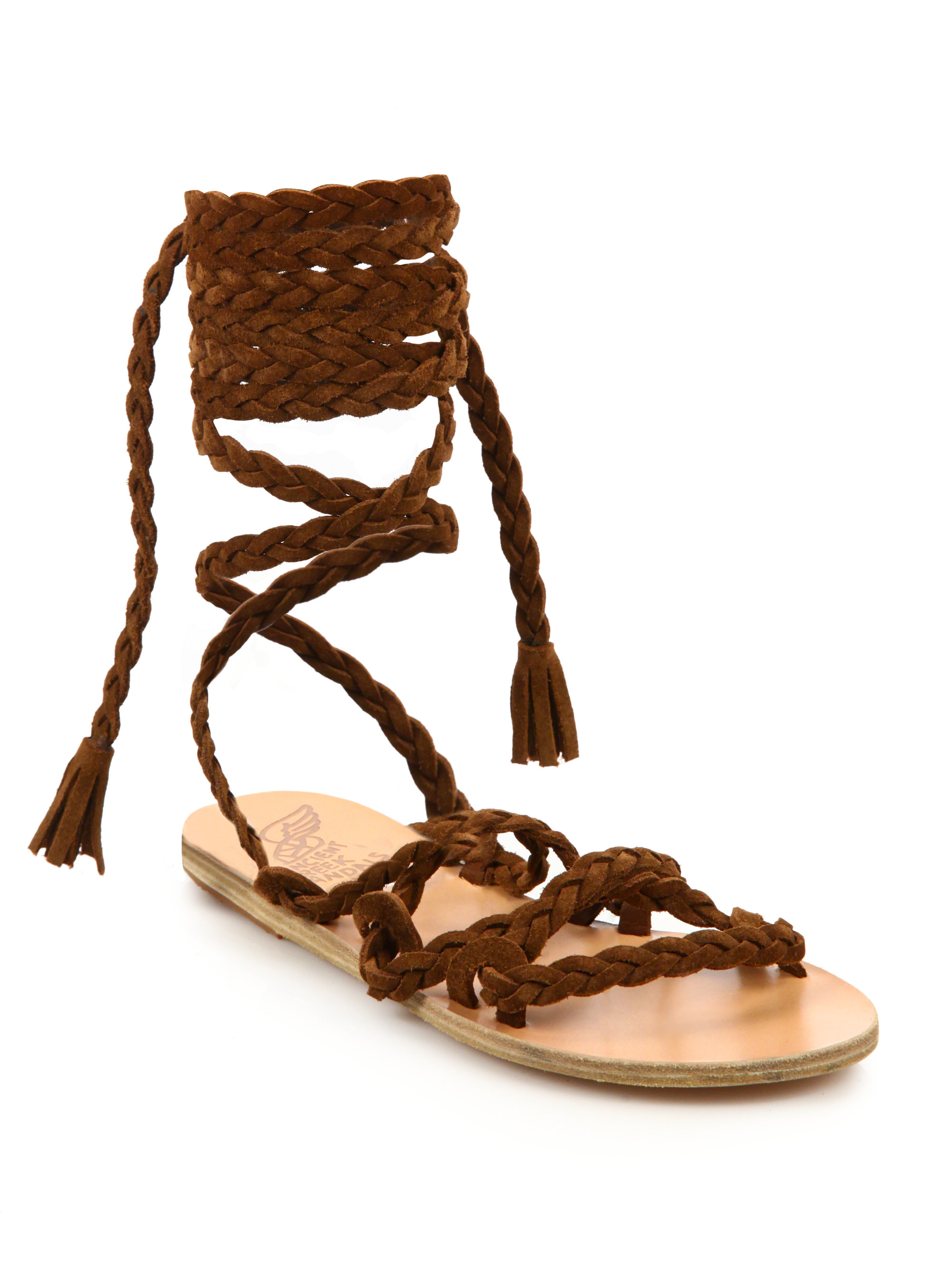 Lyst Ancient Greek Sandals Kariatida Tall Suede