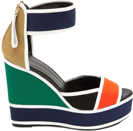 Pierre Hardy Mosaic Wedge in Multicolor (multicolour)