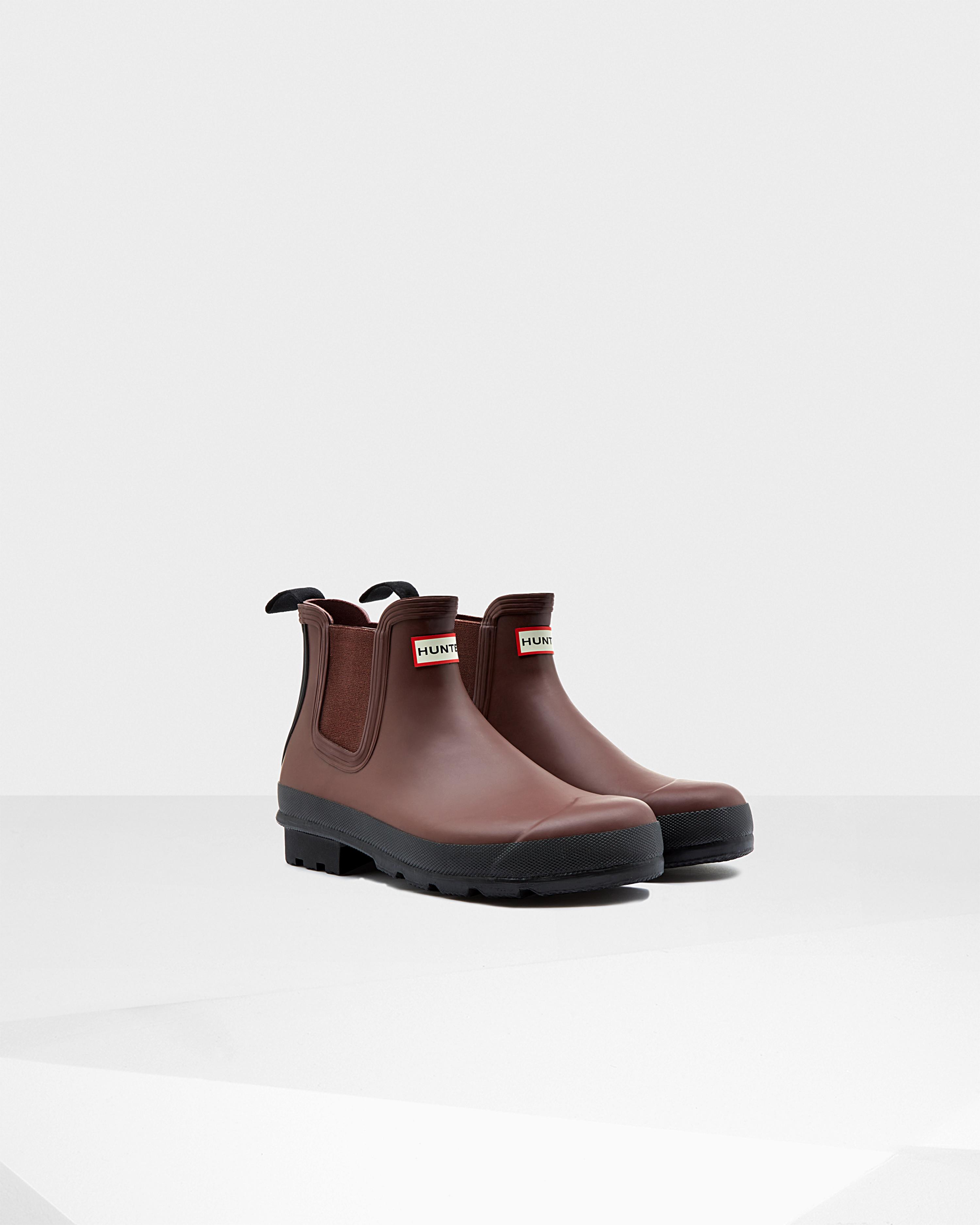Hunter Mens Original Chelsea Boots In Brown For Men Lyst