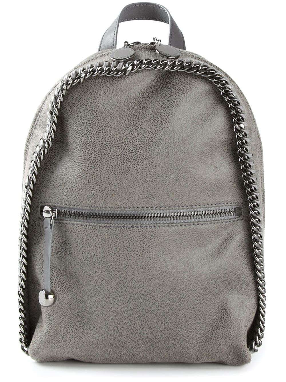 stella mccartney 39 falabella 39 backpack in gray grey lyst. Black Bedroom Furniture Sets. Home Design Ideas