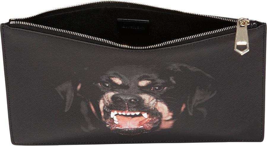 225f317856 Givenchy Rottweiler Medium Pouch in Black - Lyst