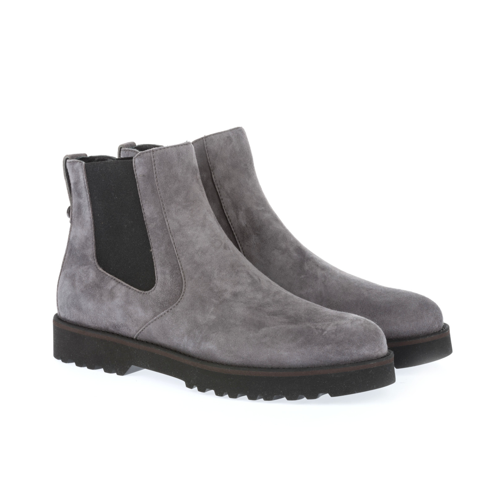 grey suede ankle boots in gray grigio lyst