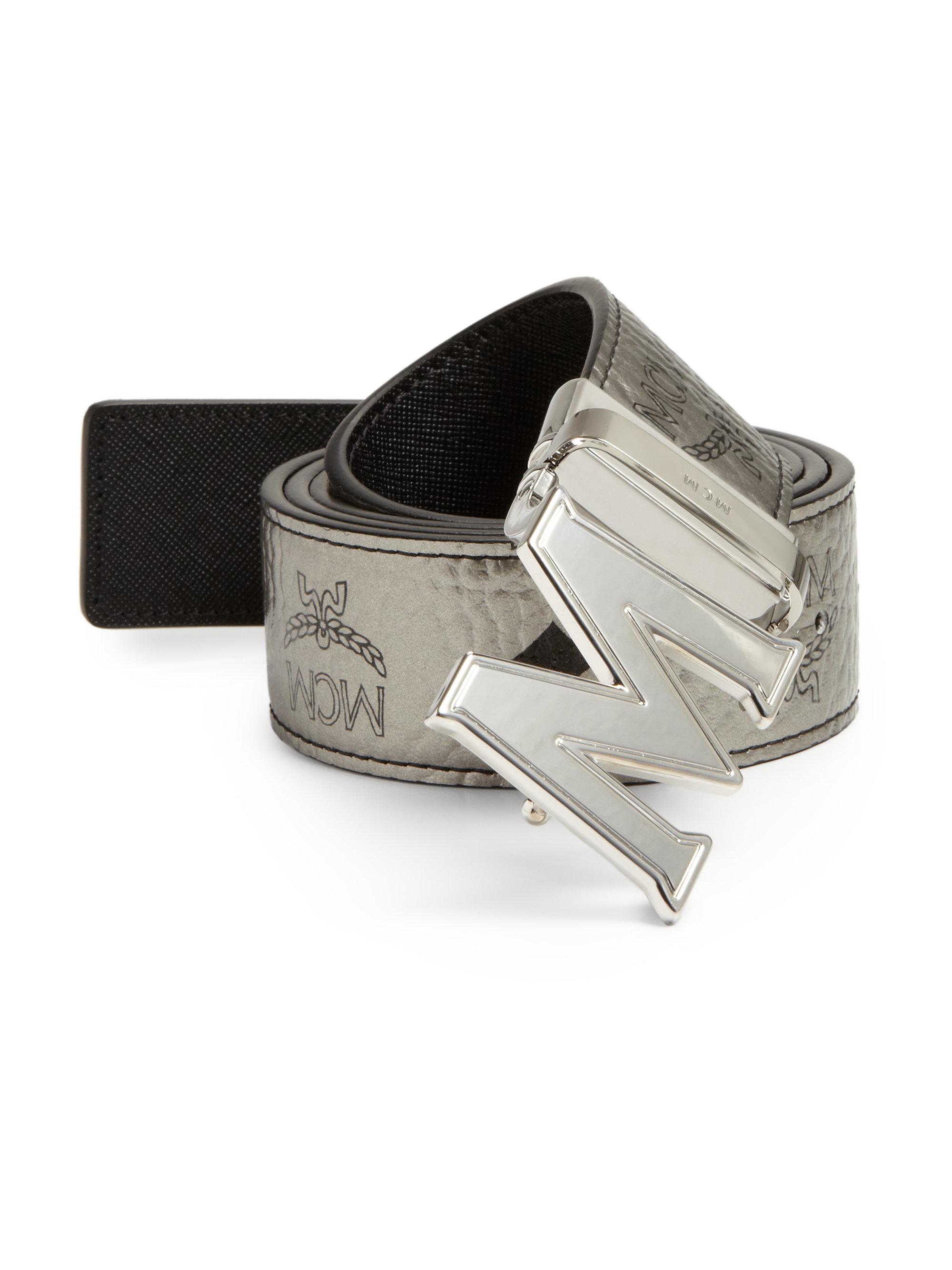 75d267ceade9 Lyst - MCM Claus Reversible Belt in Metallic for Men