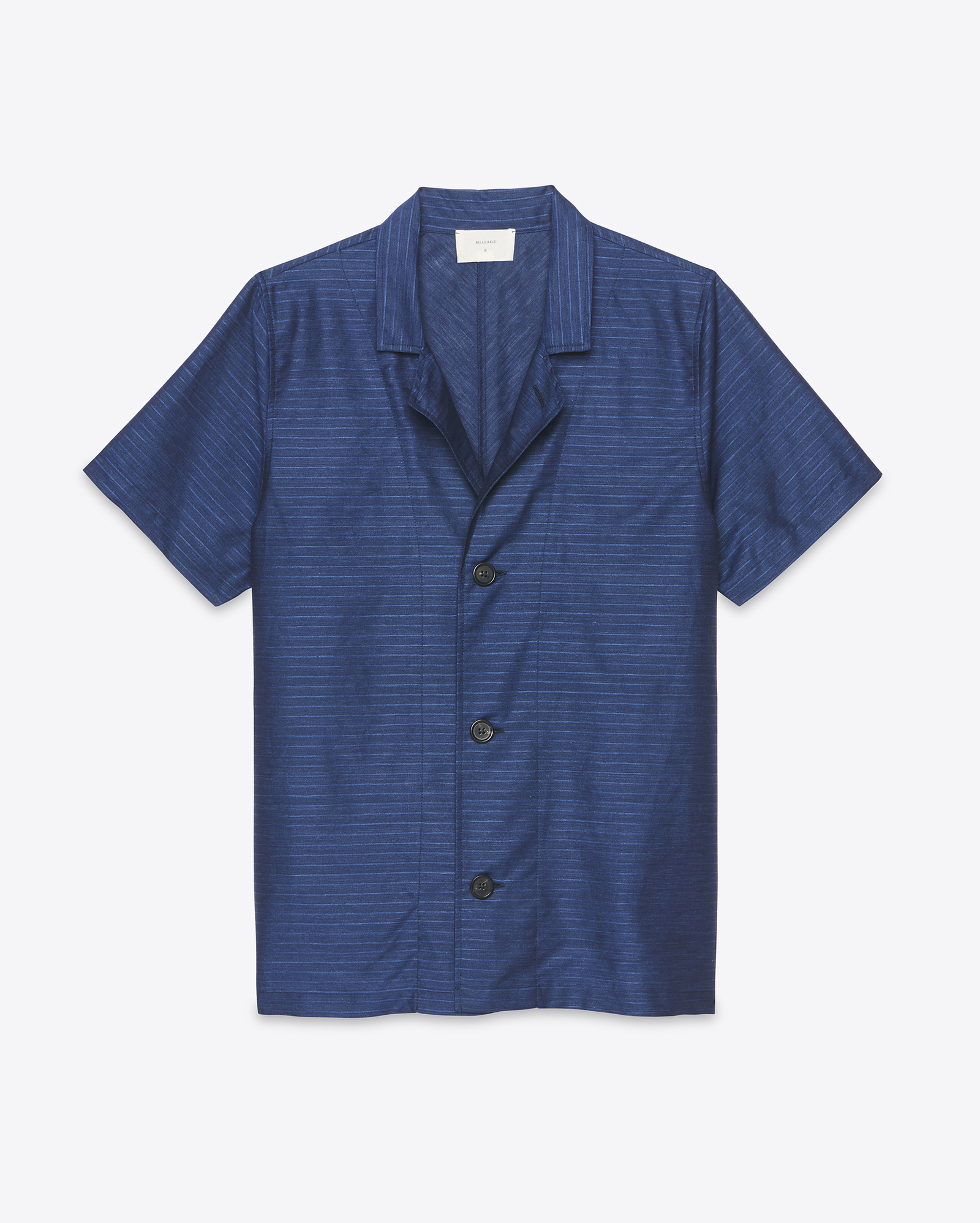 Billy reid camp shirt in blue lyst for Navy blue color shirt