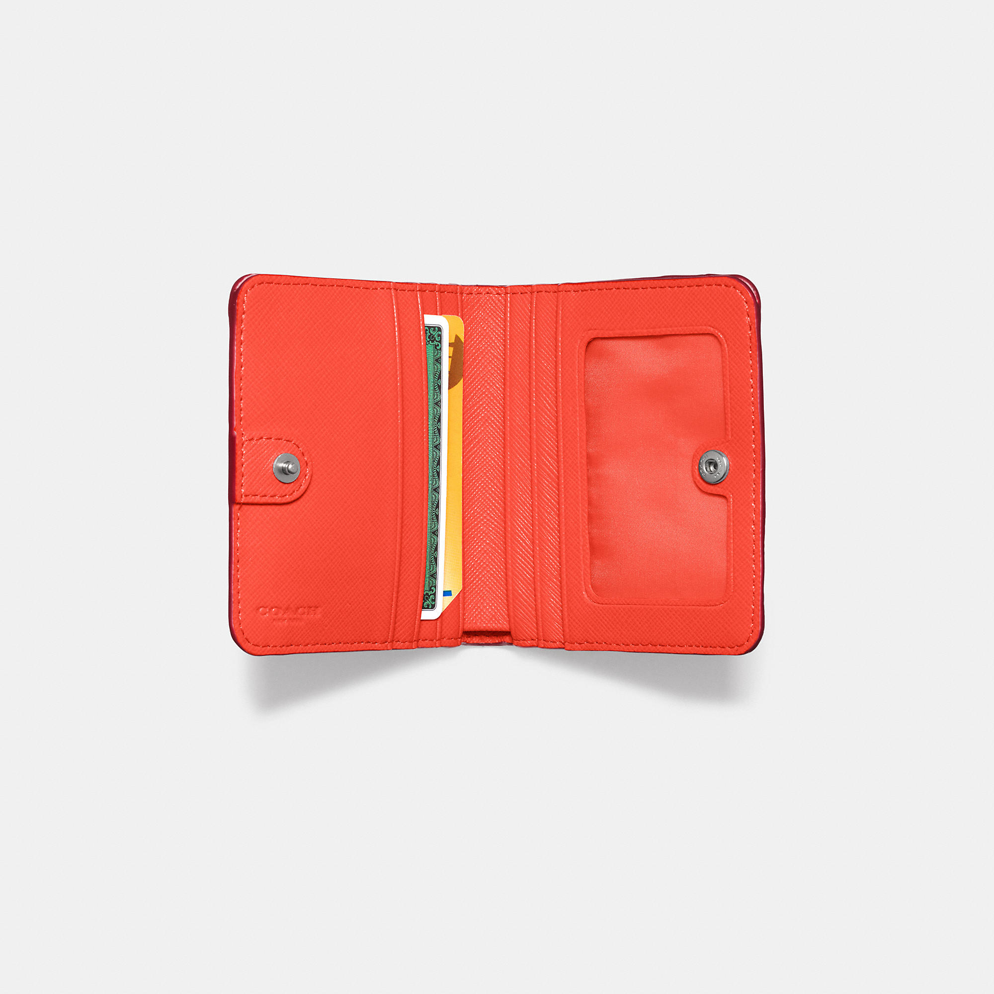 447eebc73c1ee ... canada lyst coach small wallet in colorblock leather in red a2e66 5976b