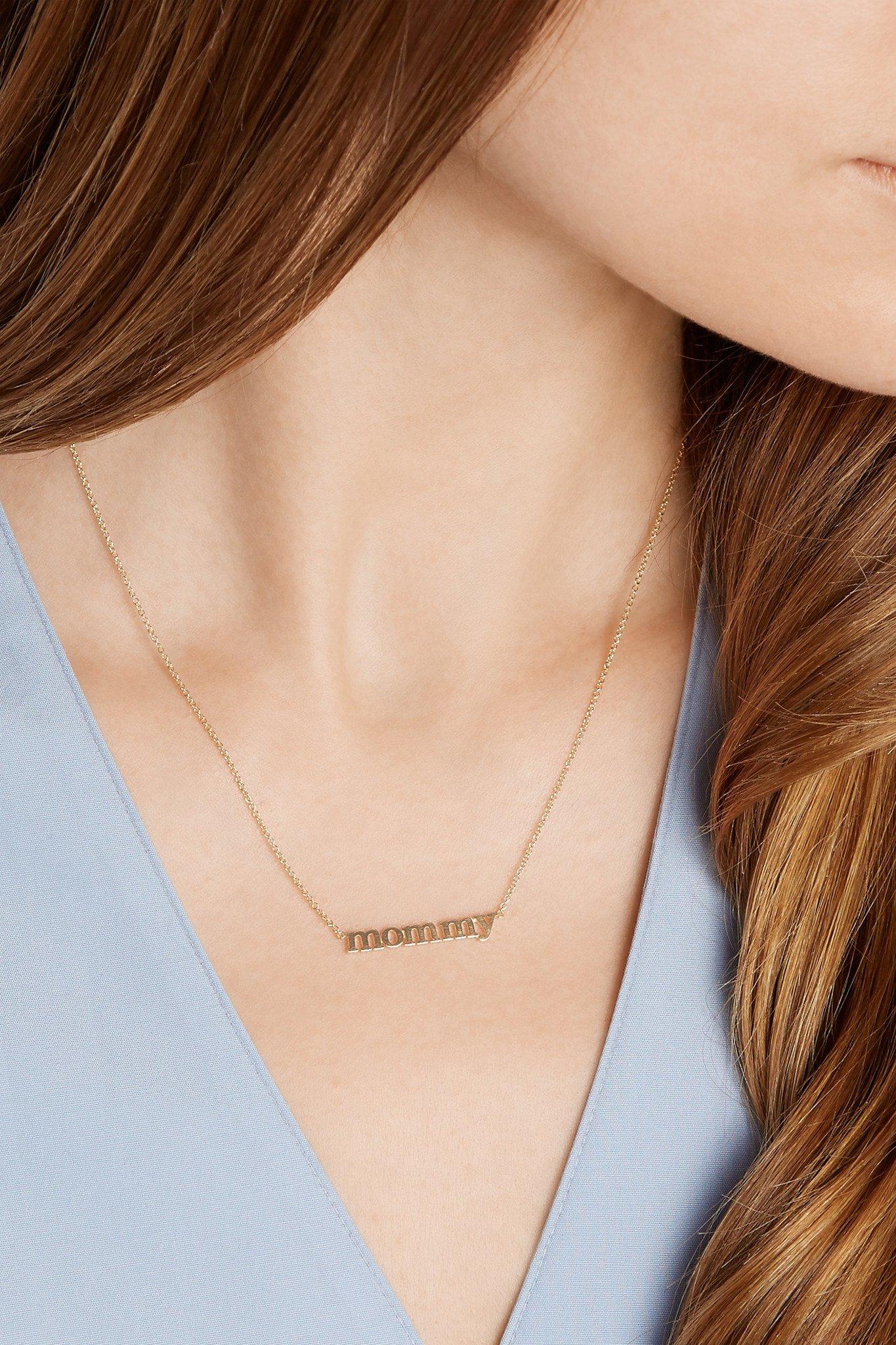 Lyst jennifer meyer mommy 18 karat gold necklace in metallic gallery aloadofball Gallery