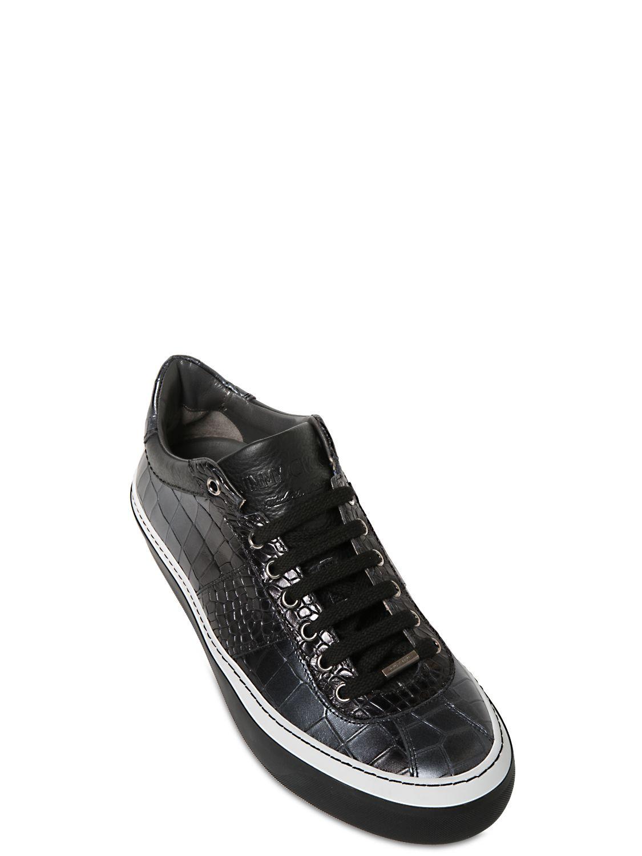 Jimmy chooCrocodile embossed sneakers oedSY