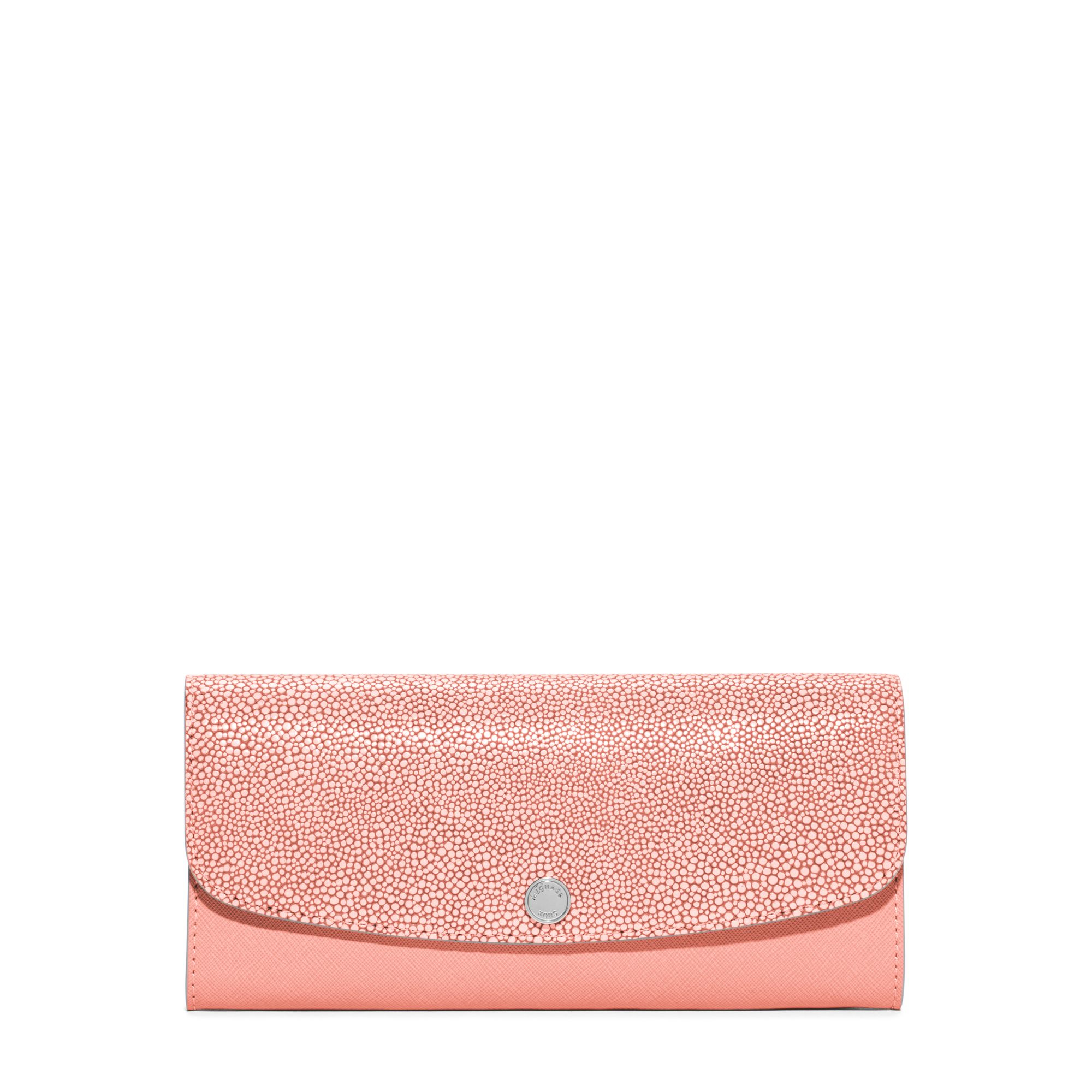 5f5d33678a90 Michael Kors Juliana Large 3-in-1 Saffiano Leather Wallet in Pink - Lyst