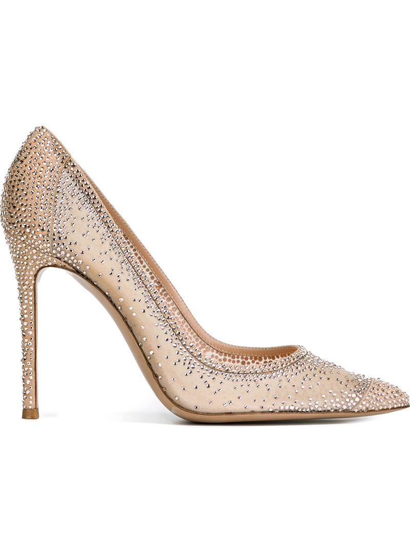 Gianvito Rossi Crystal-embellished satin pumps 3R8TWzEq
