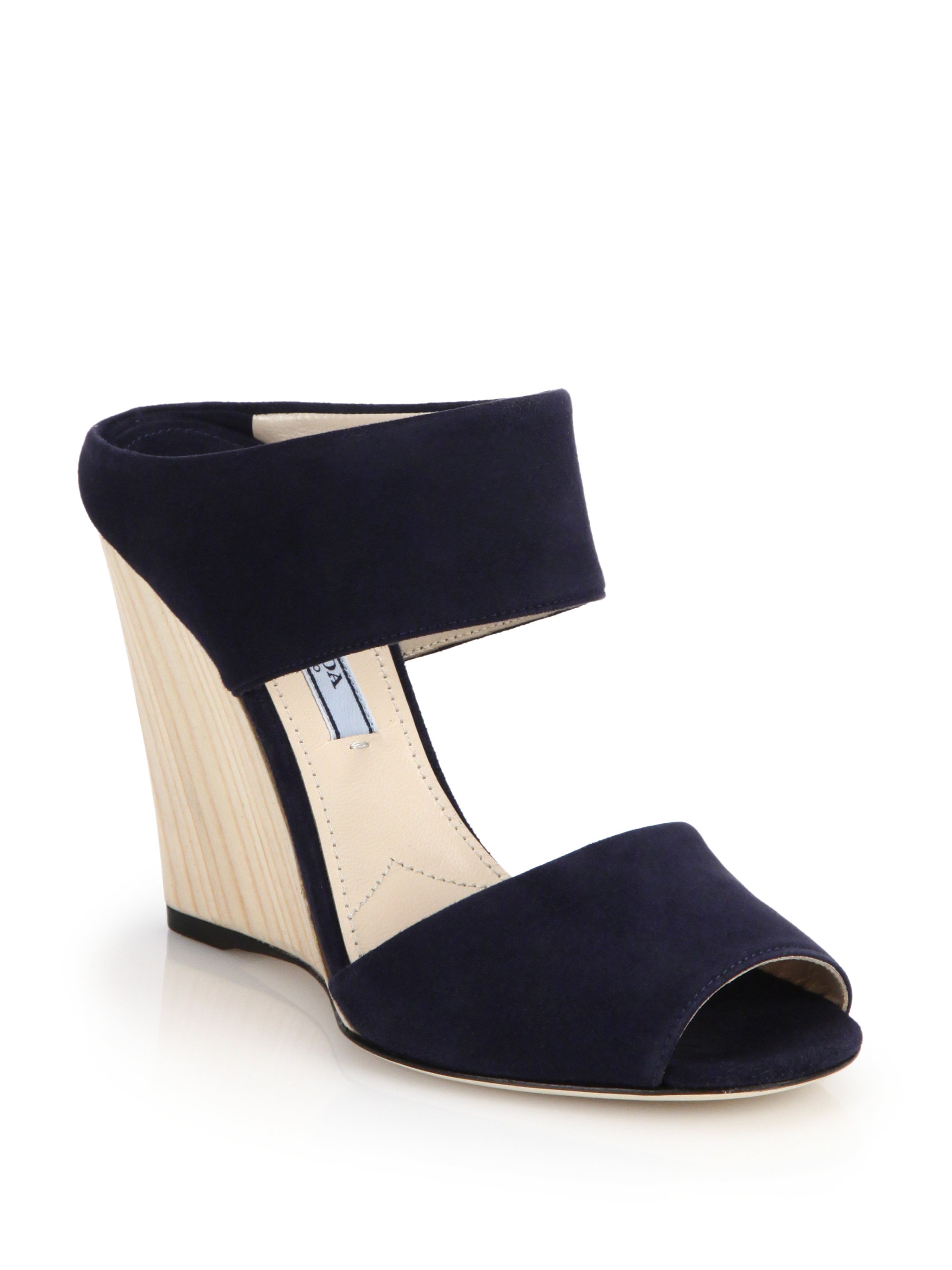 Blue Suede Wedge Shoes Uk