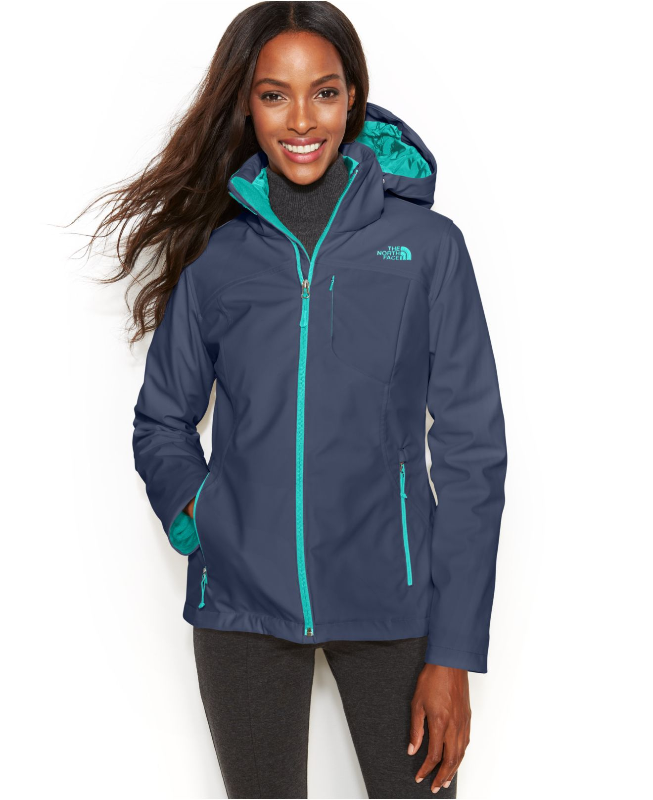 Stone Elevation Zip : Lyst the north face apex elevation zip up jacket in blue