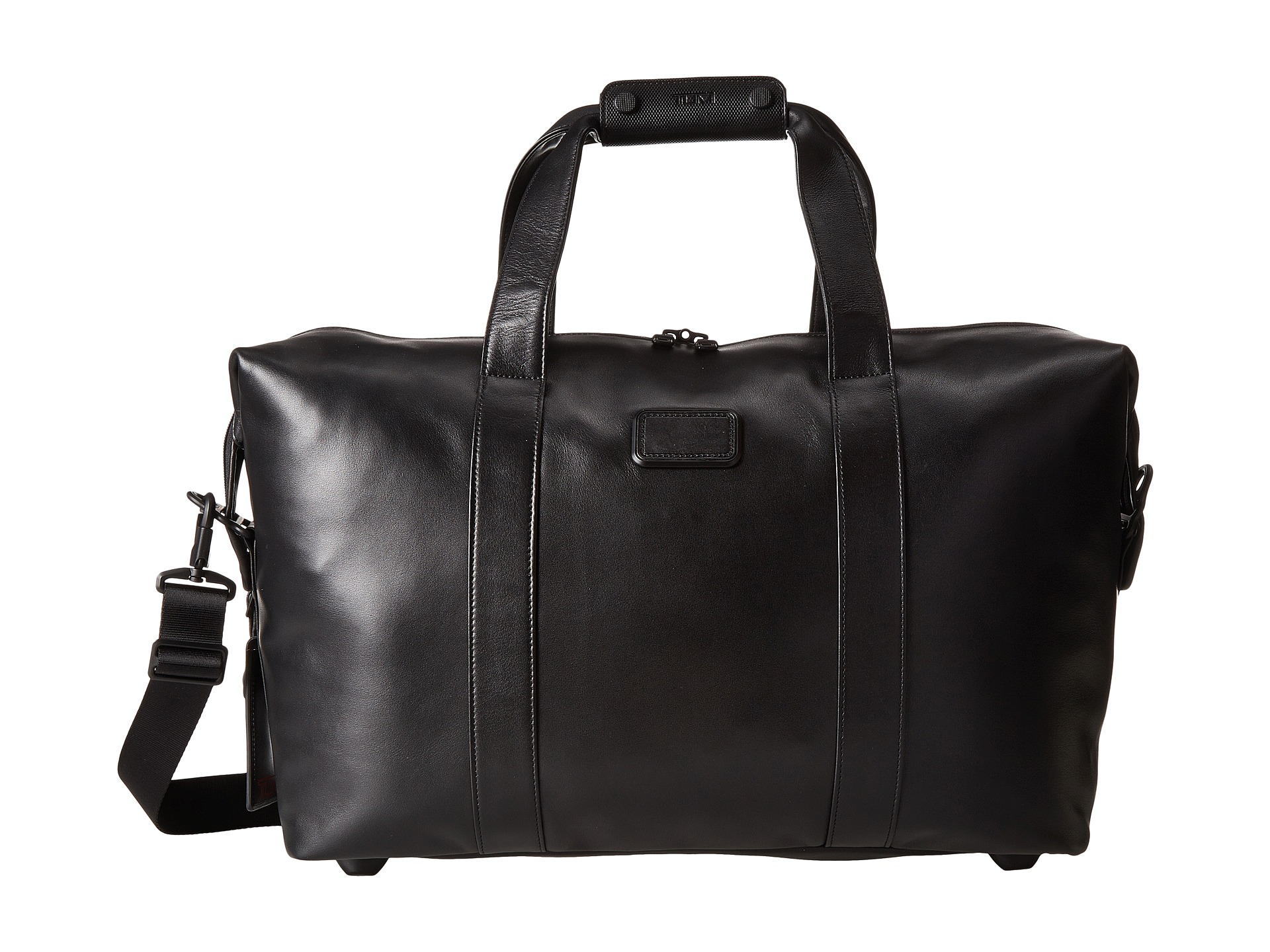 Lyst - Tumi Alpha 2 - Small Soft Leather Travel Satchel in Black for Men 48ed5ae587e56