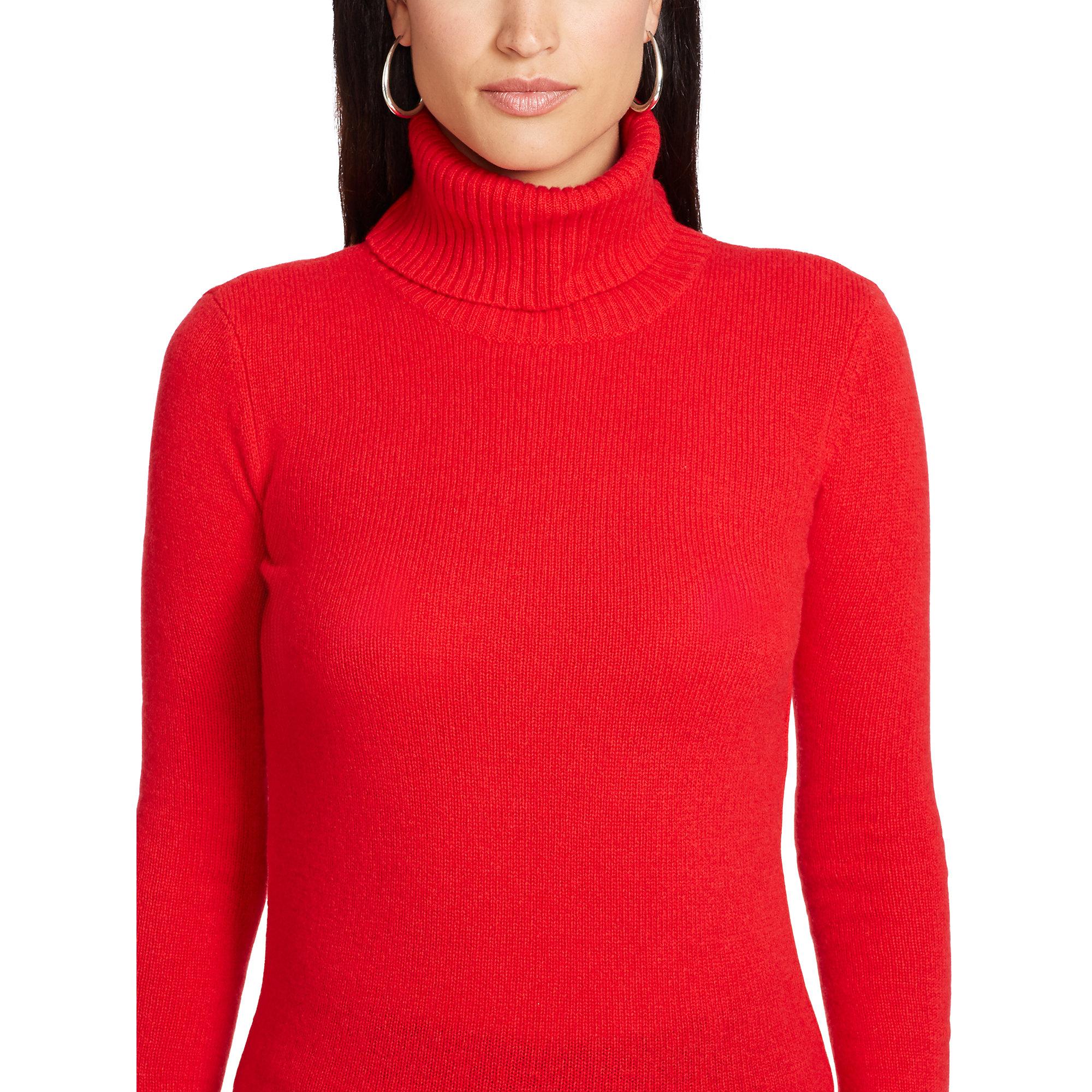 Ralph lauren Wool-cashmere Turtleneck in Red | Lyst