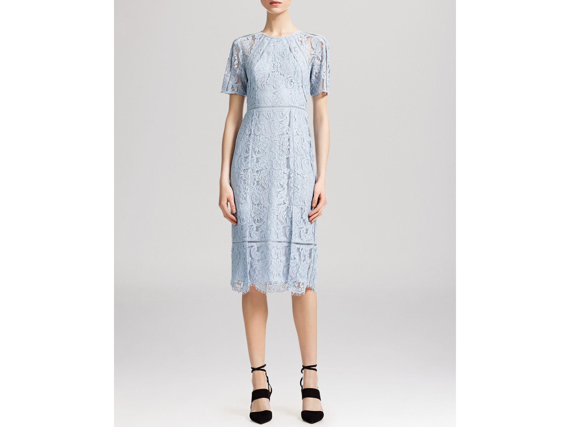 Whistles Pale Blue Lace Dress Dress On Sale