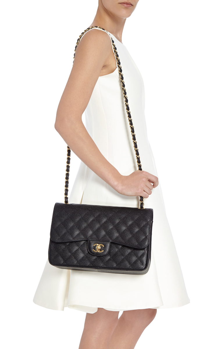 373f8188e679 Lyst - Madison Avenue Couture Chanel Black Quilted Caviar Jumbo ...