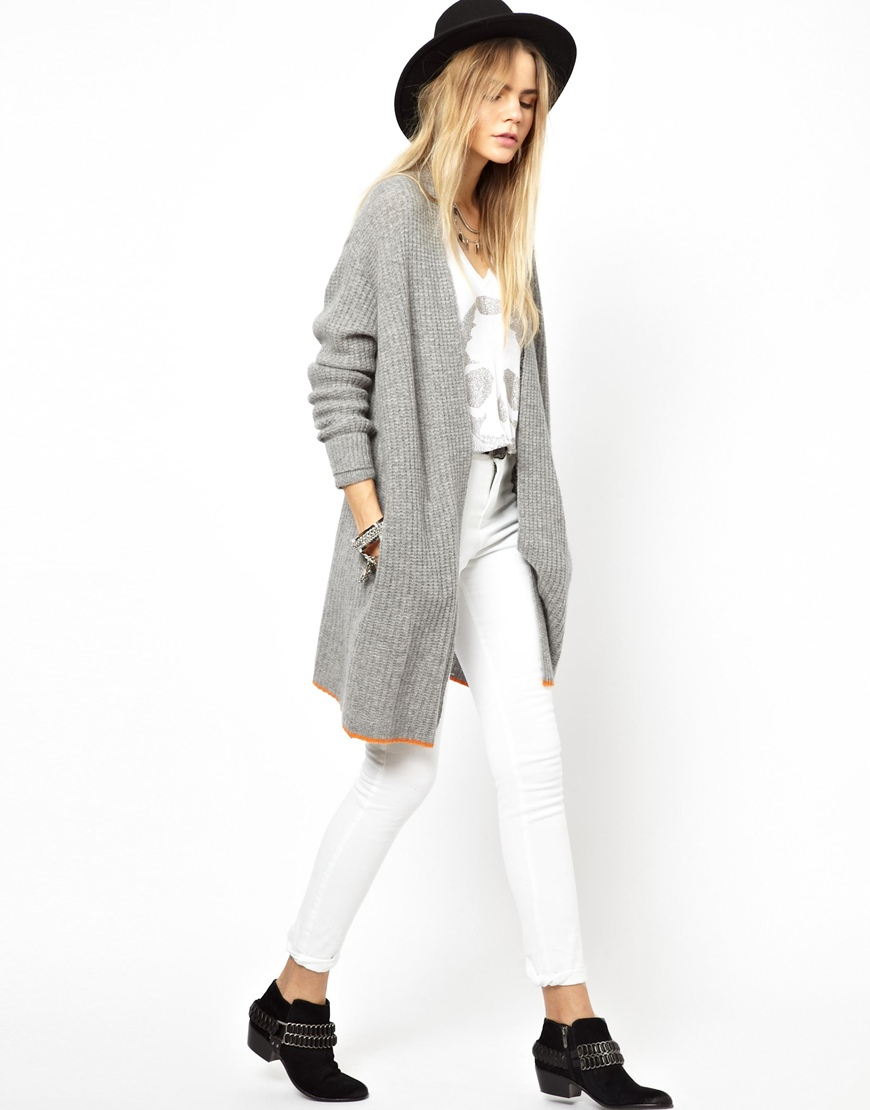 Zadig & voltaire Zadig and Voltaire Dina Deluze Shawl Cardigan in ...