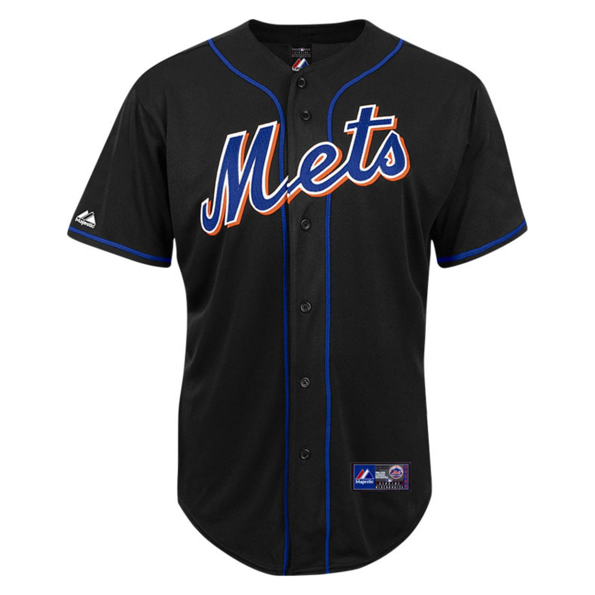 Majestic Men S New York Mets Blank Replica Jersey In Black For Men Lyst